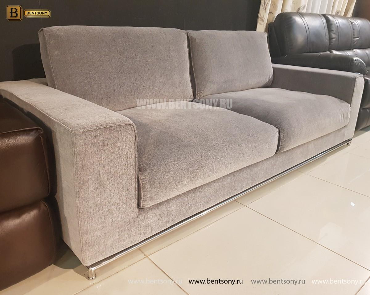 Диван Лучиано серый (Прямой) каталог мебели