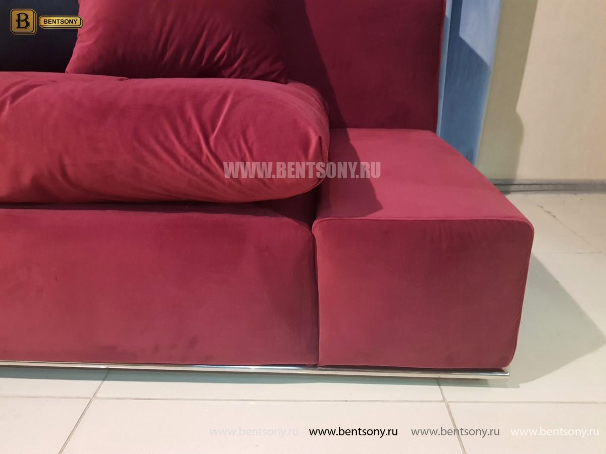 Диван угловой Бениамино (Бордо) каталог мебели