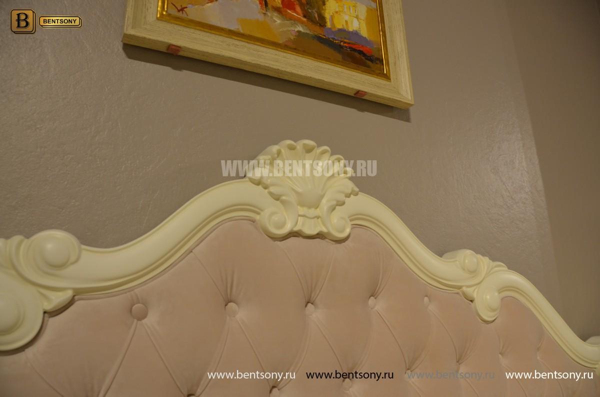 Спальня Габриель-W белая (Классика, Ткань) изображение