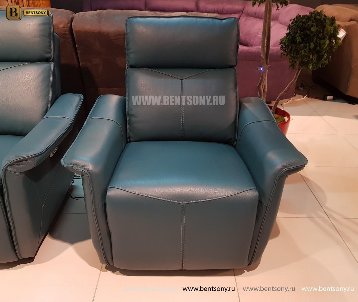 Кожаное Кресло Анголо (Реклайнер) купить в СПб