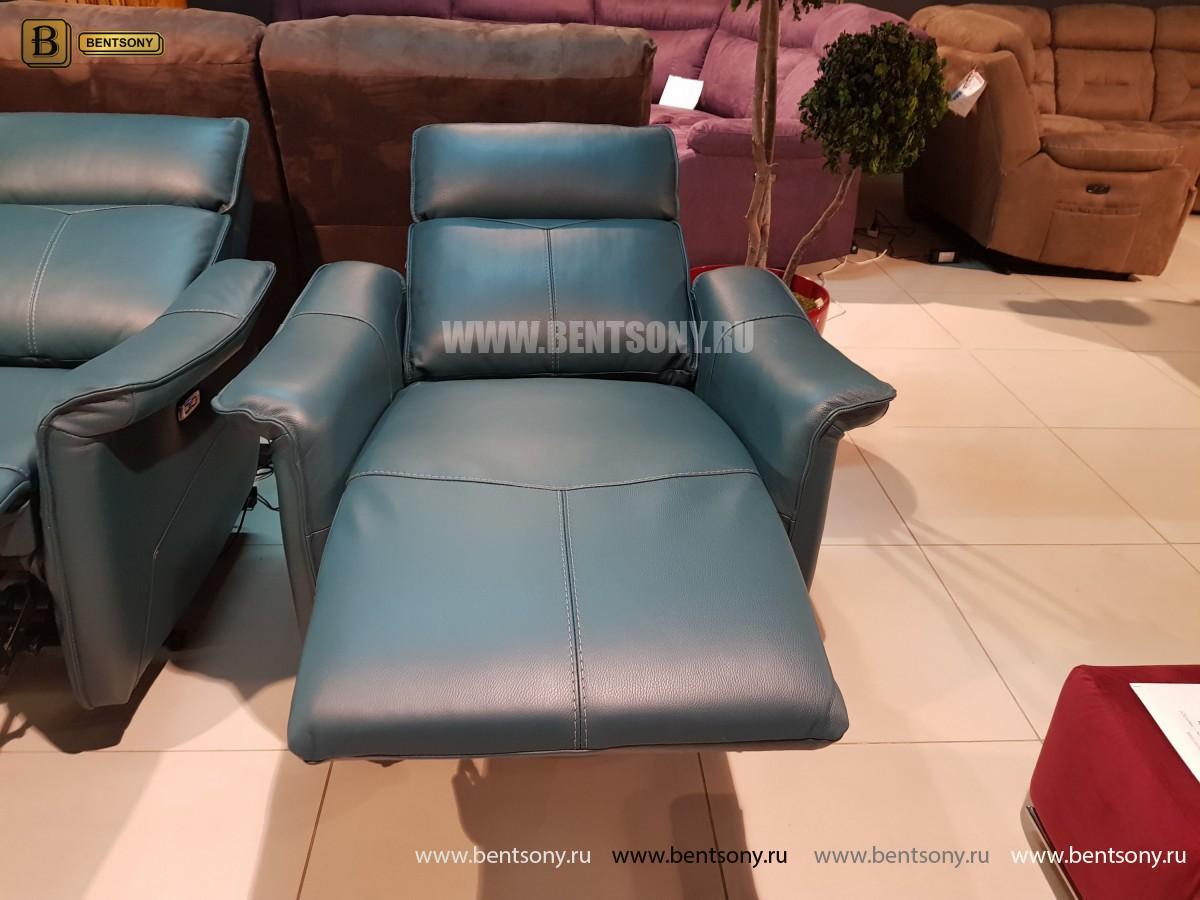 Кожаное Кресло Анголо (Реклайнер) каталог с ценами