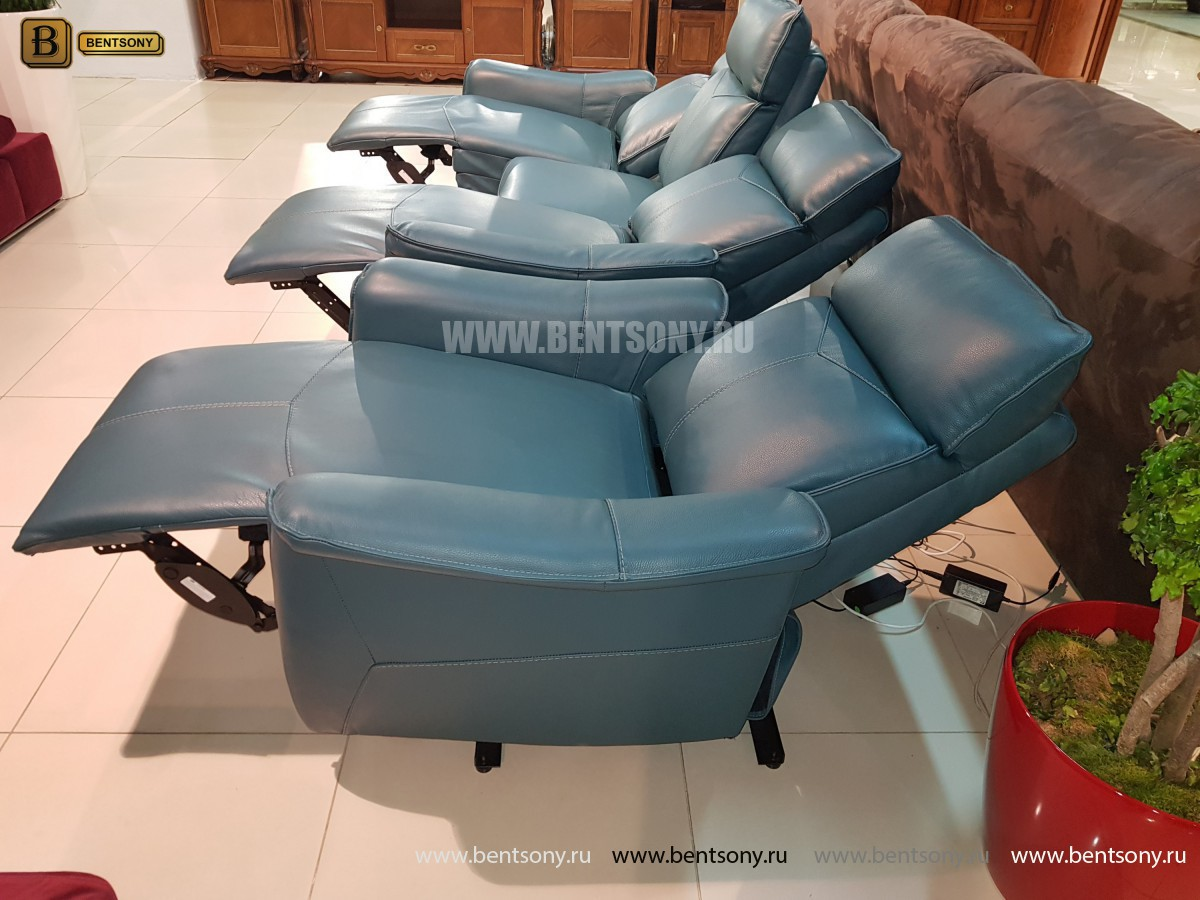 Кожаное Кресло Анголо (Реклайнер) каталог мебели с ценами