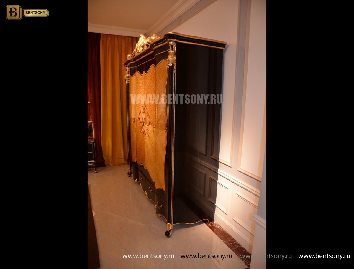 Шкаф 4-х дверный Конкорд (Массив дерева, Классика) купить в Москве