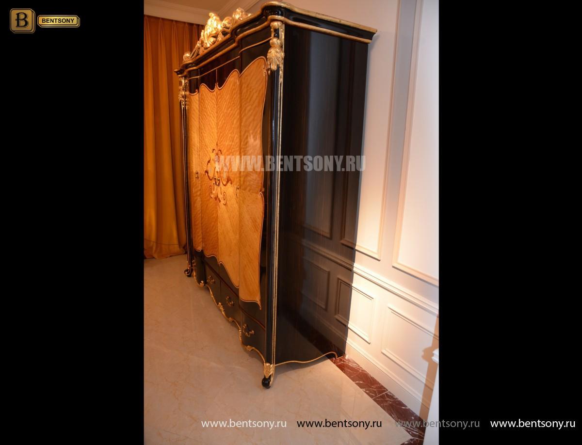 Шкаф 4-х дверный Конкорд (Массив дерева, Классика) для дома