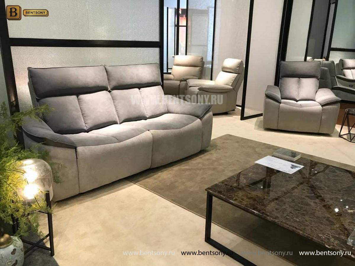 Кресло Портаро с реклайнером (Алькантара) для дома