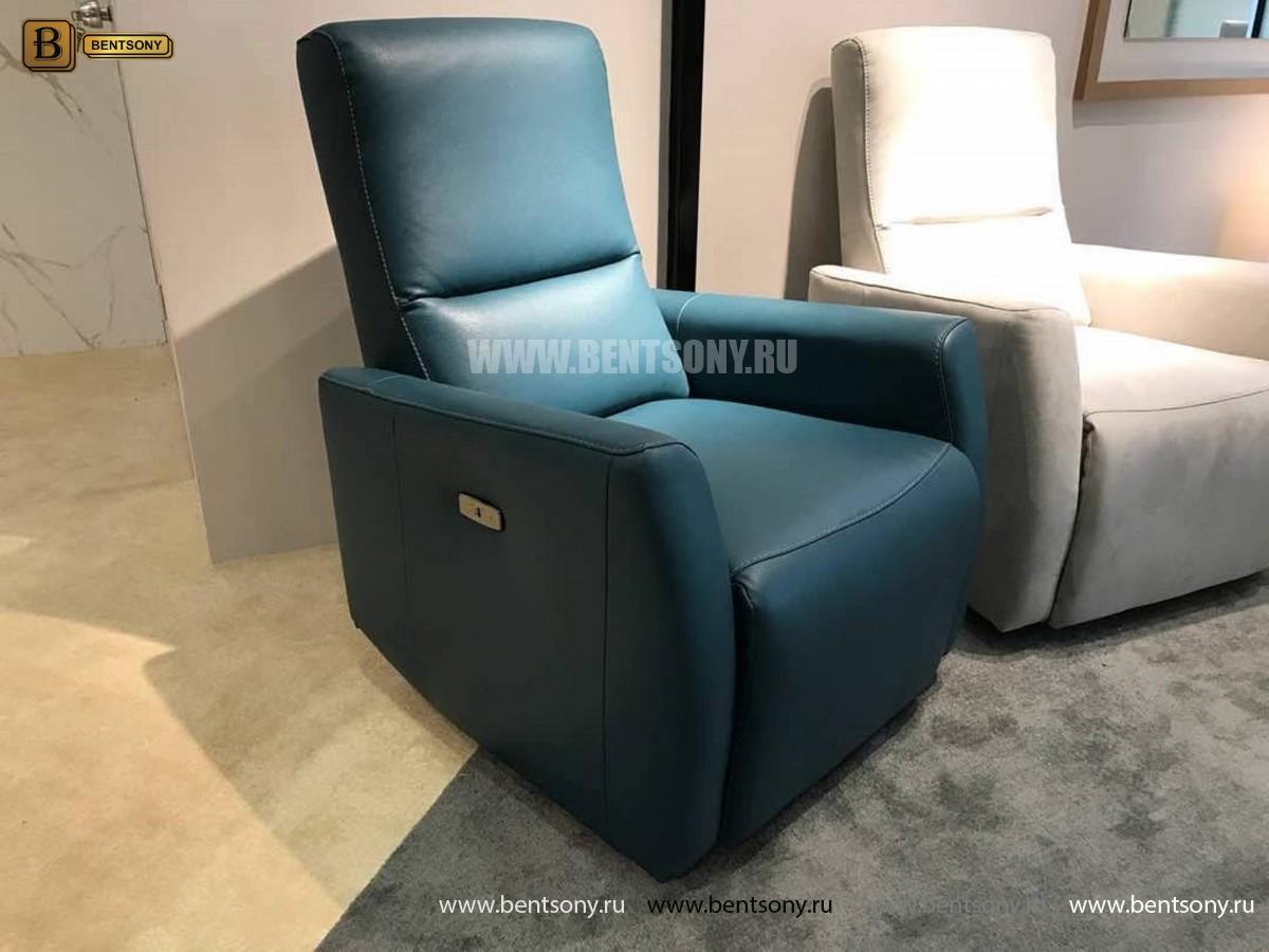 Кресло Бокко (Реклайнер, Натуральная кожа) фото