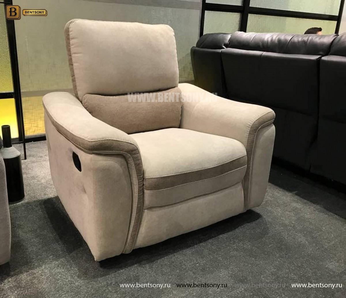 Кресло Фатто с реклайнером (Алькантара) каталог мебели с ценами