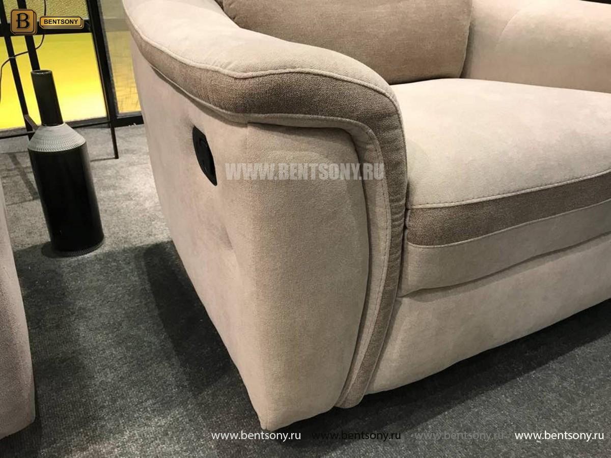 Кресло Фатто с реклайнером (Алькантара) для загородного дома