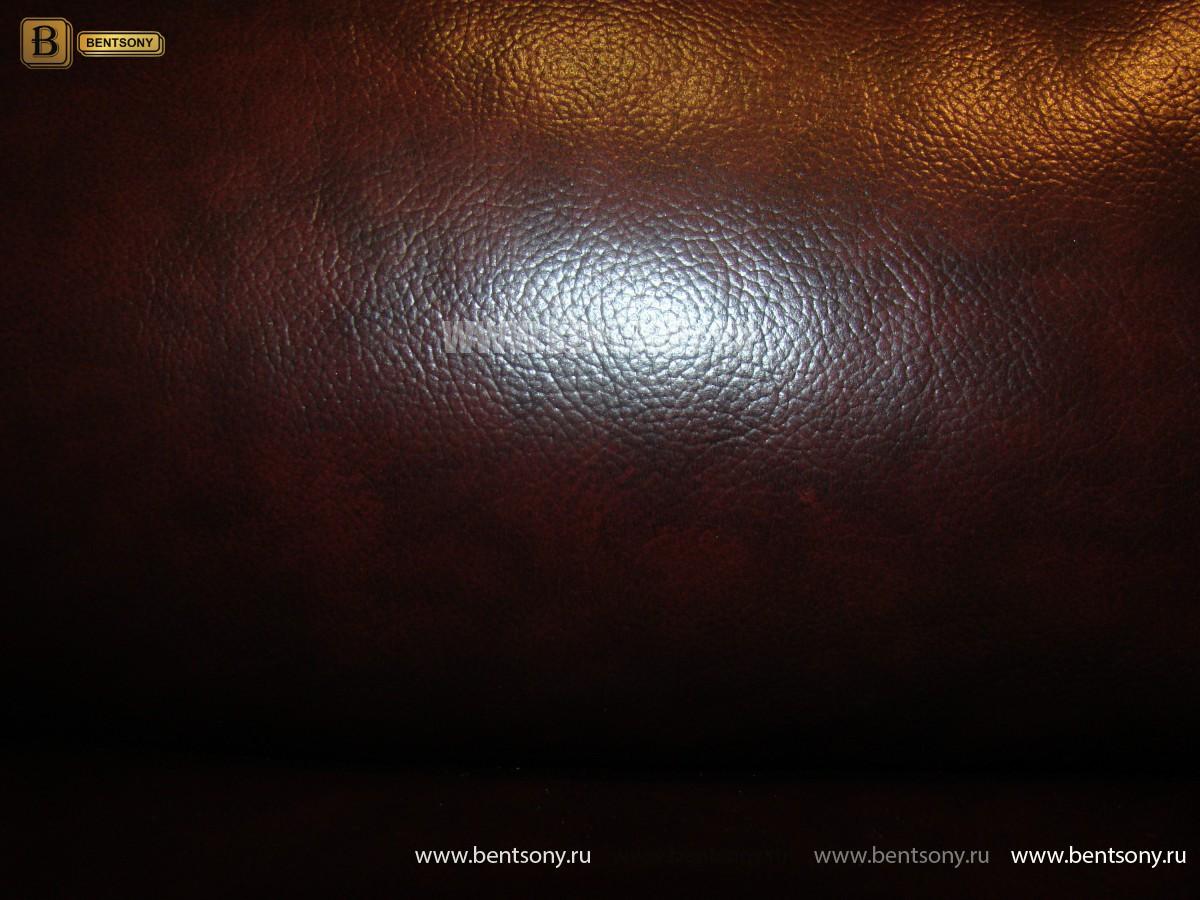 Диван Амелия угловой (Натуральная кожа, цвет бургунди) распродажа
