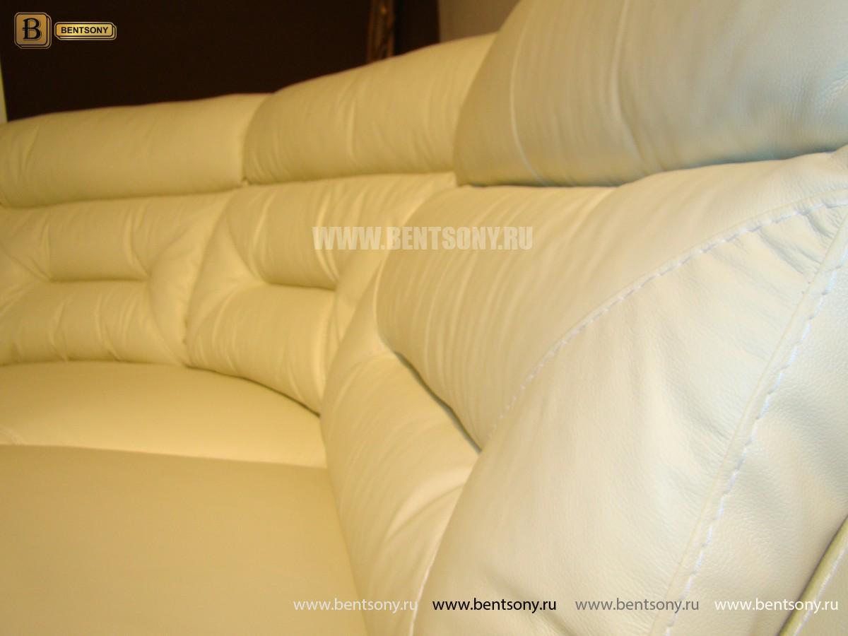 Диван Амелия угловой (Натуральная кожа, Реклайнеры) каталог мебели с ценами