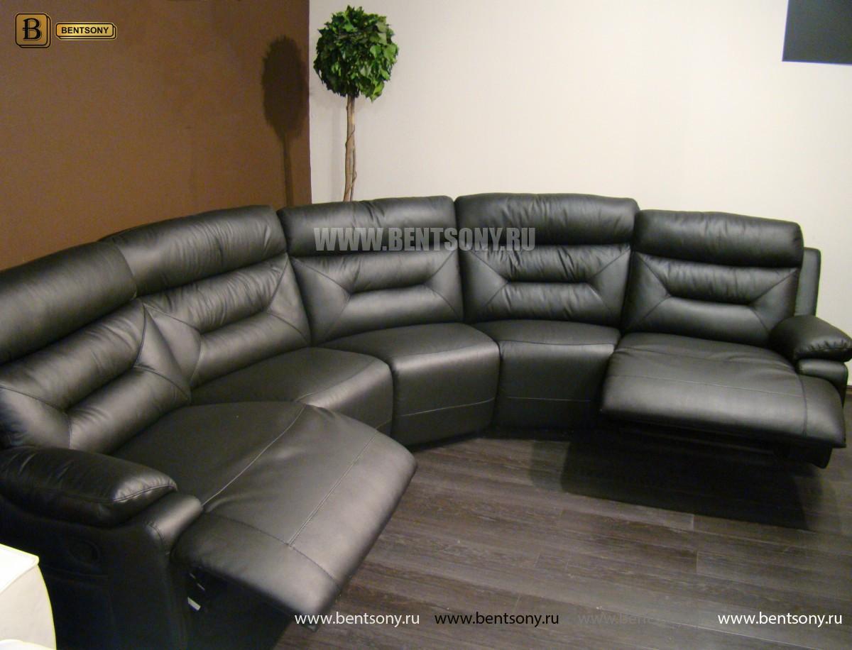 Диван Амелия угловой (Натуральная кожа, пять модулей) каталог мебели с ценами
