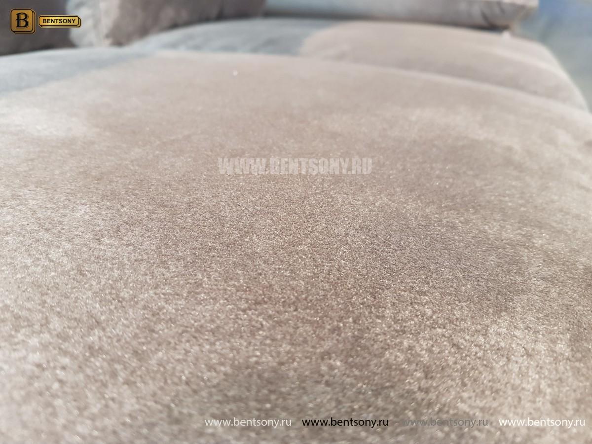 Диван Дельфико коричневый Двойной (Велюр) каталог мебели с ценами