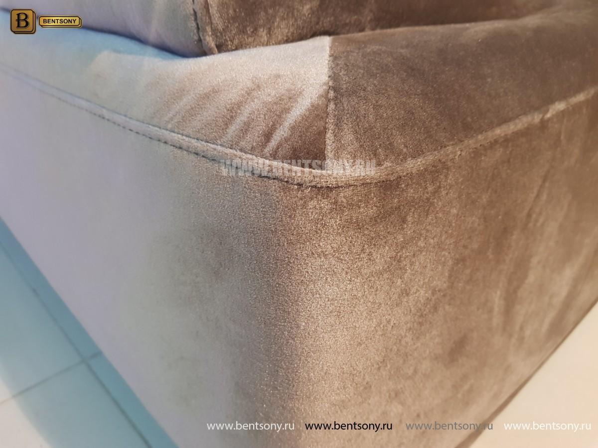Диван Дельфико коричневый Двойной (Велюр) купить в Москве