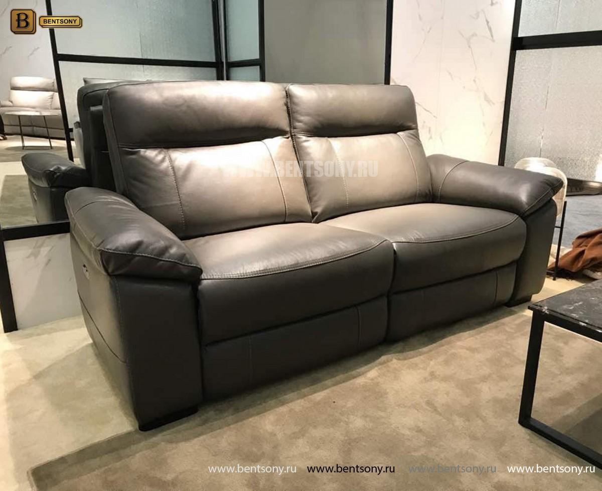 Диван Метеро (Натуральная кожа, РЕклайнеры) каталог мебели с ценами
