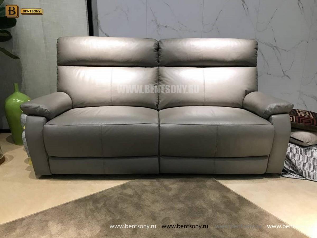Диван Дисолито (Натуральная кожа, Реклайнеры) для квартиры