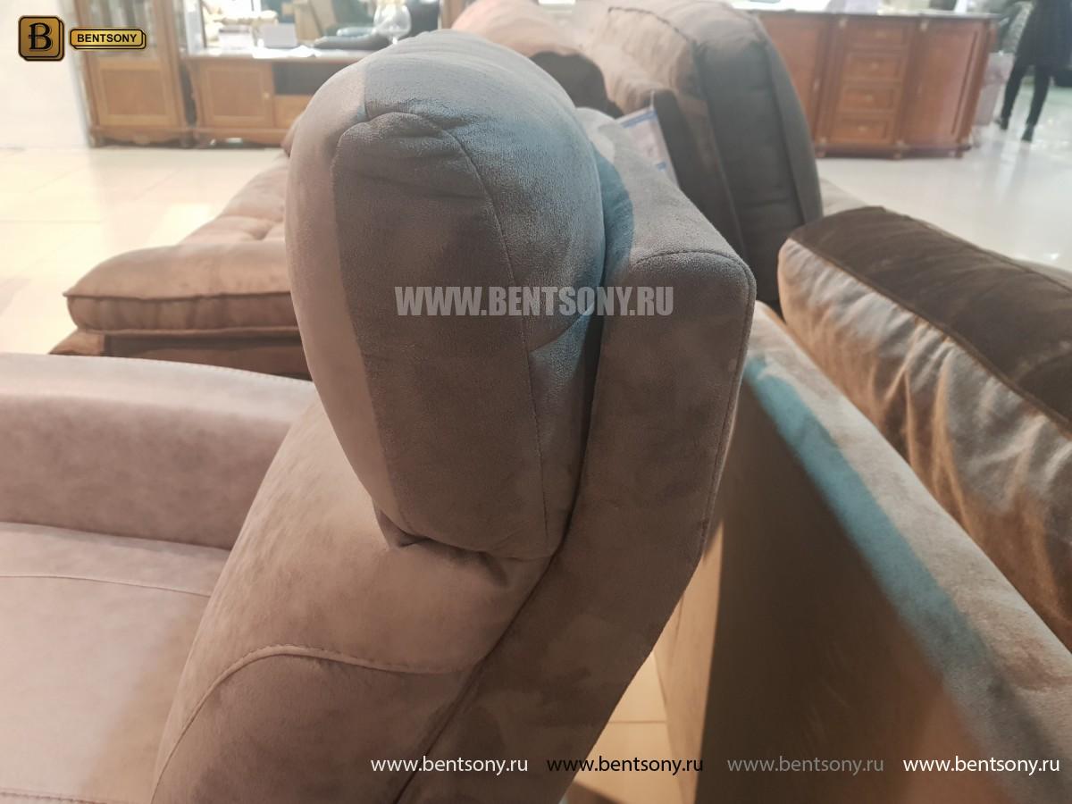 Кресло Эдвард с реклайнером (Алькантара) для загородного дома