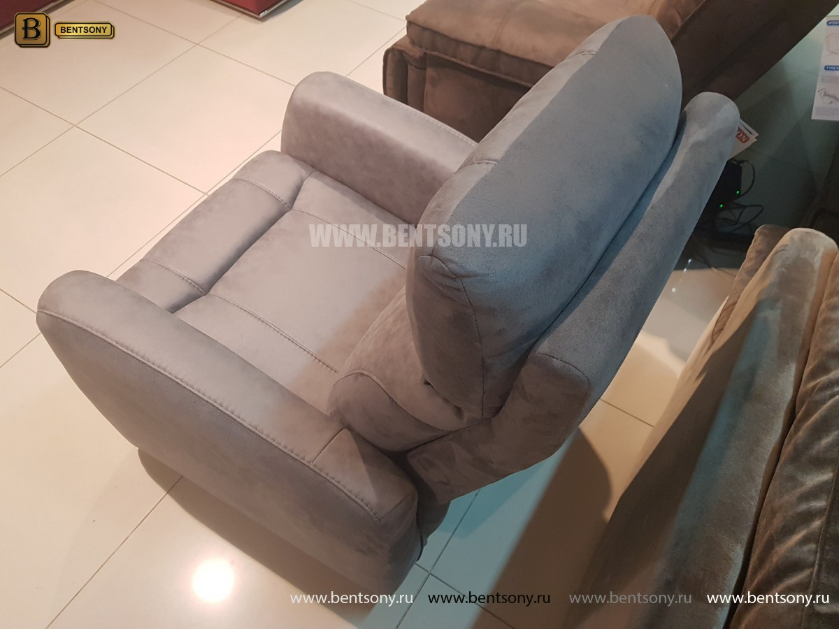 Кресло Эдвард с реклайнером (Алькантара) каталог мебели