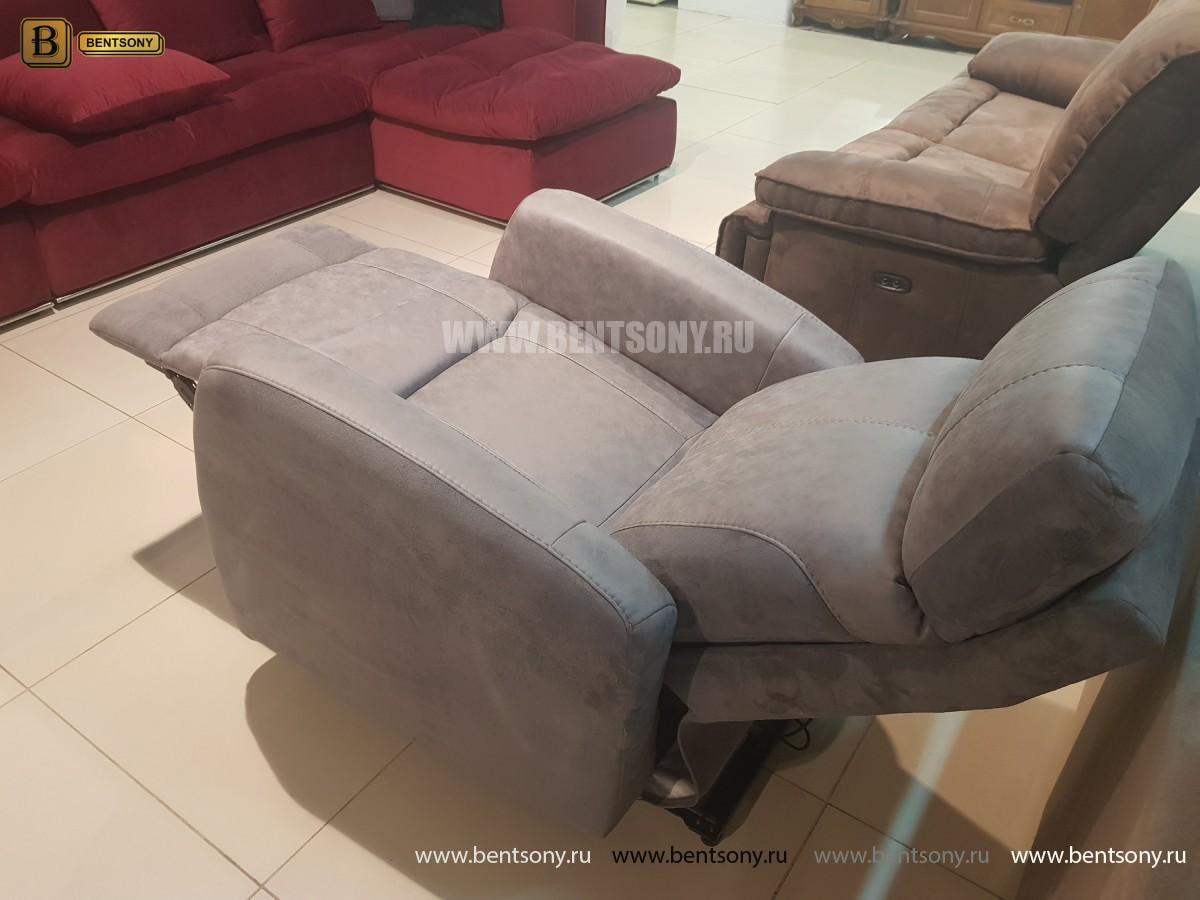 Кресло Эдвард с реклайнером (Алькантара) магазин Москва