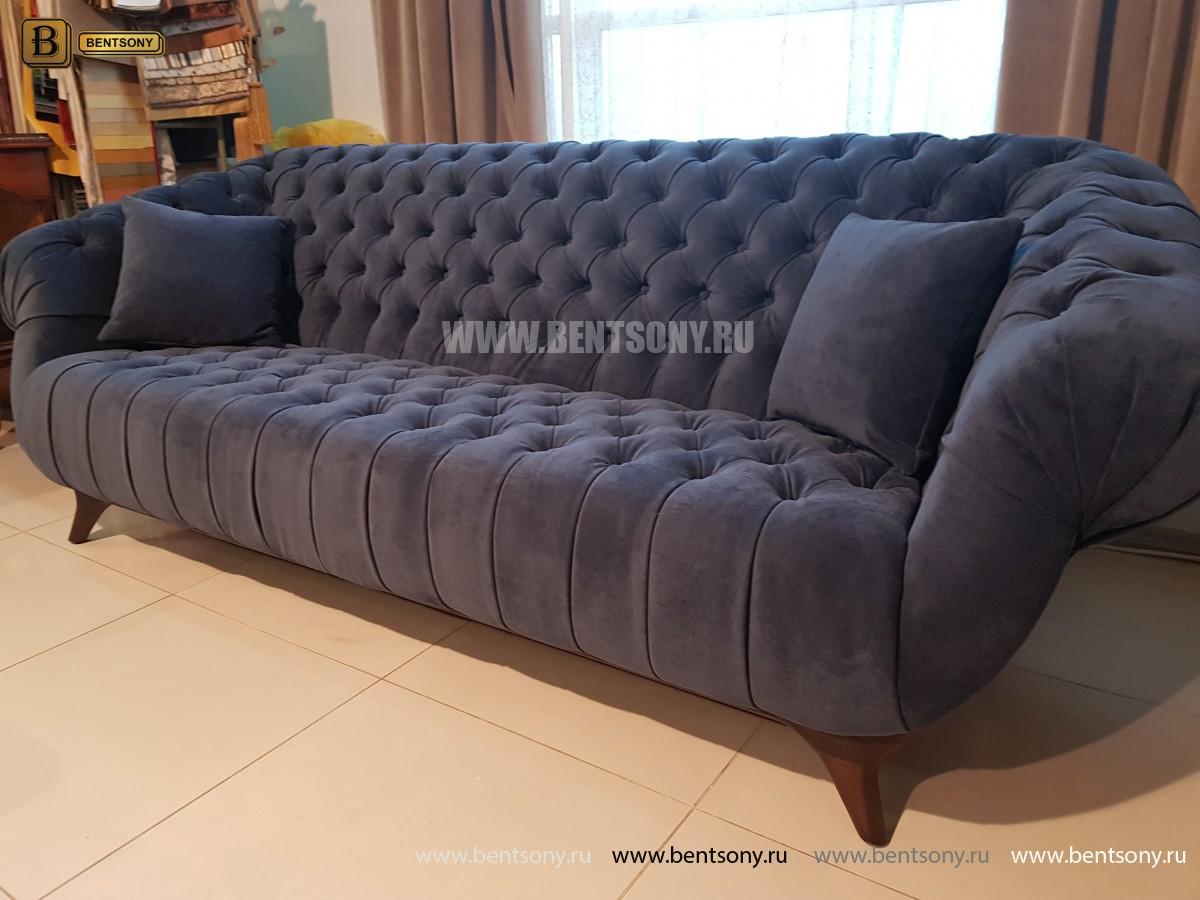 Диван Буранто (Прямой, Велюр, Капитоне) каталог мебели с ценами