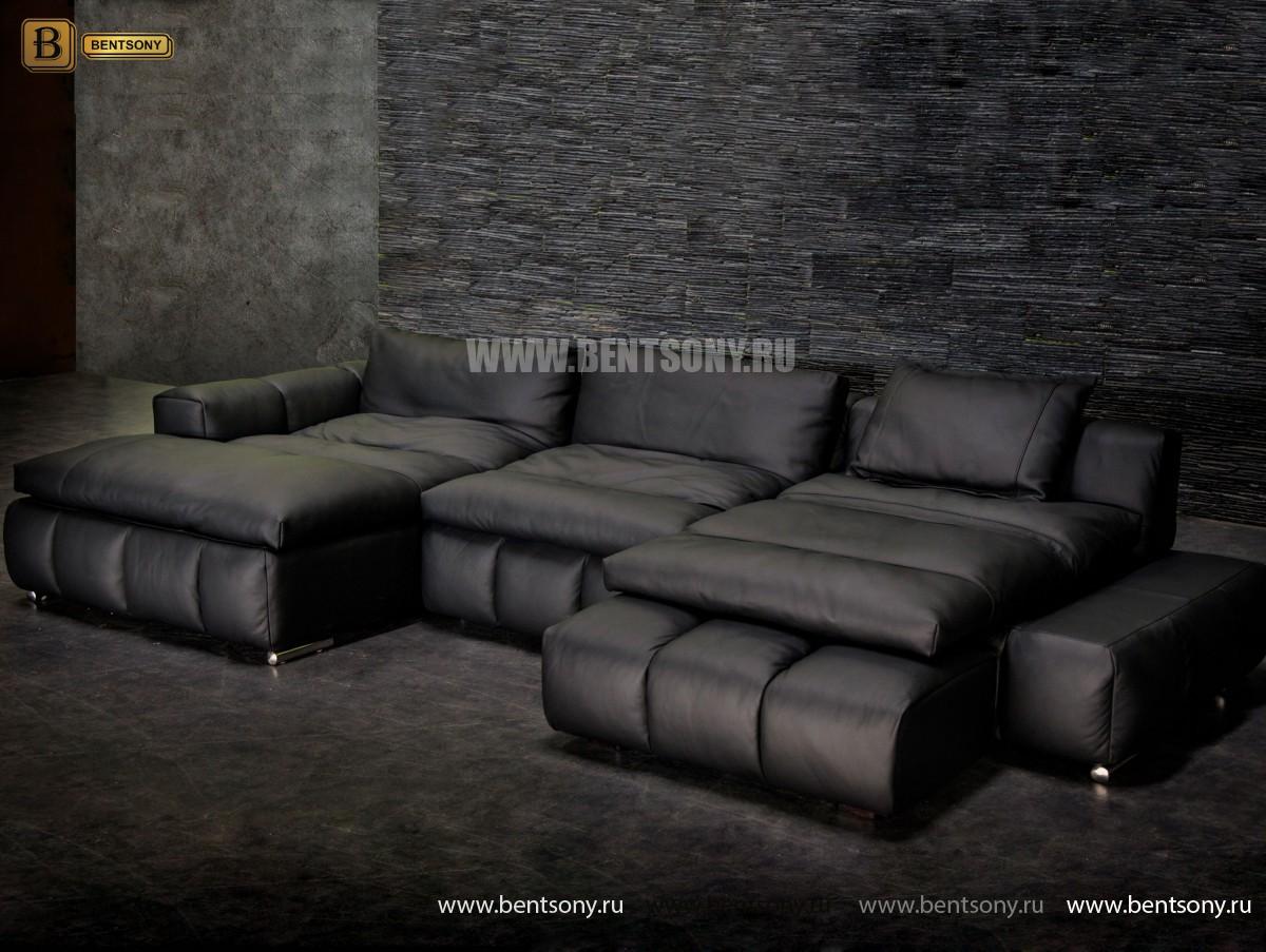 Диван Марчелло (Угловой, Натуральная Кожа, Спец предложение) каталог мебели с ценами