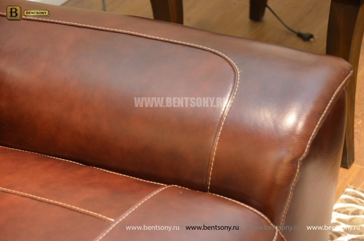 Кресло Болтон (Реклайнер, Натуральная кожа) сайт цены