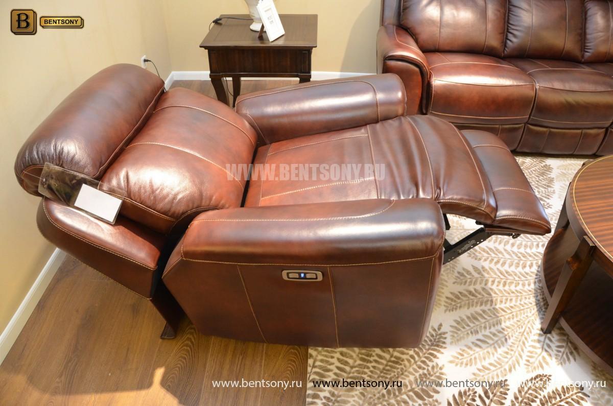 Кресло Болтон (Реклайнер, Натуральная кожа) распродажа