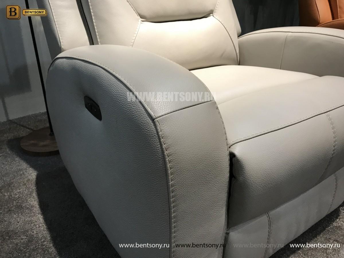 Кресло Ларедо светлое (Реклайнер, Натуральная Кожа) купить