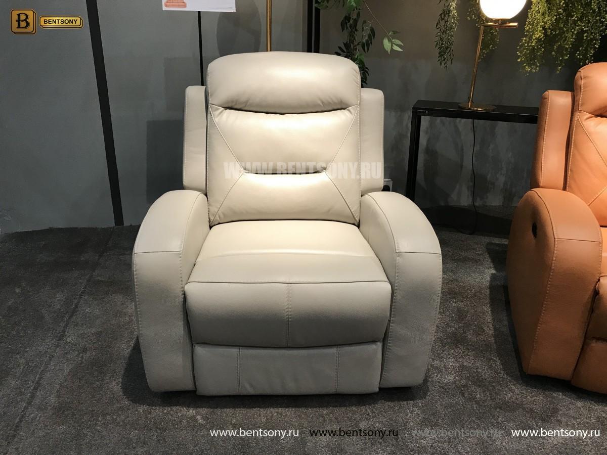 Кресло Ларедо светлое (Реклайнер, Натуральная Кожа) каталог