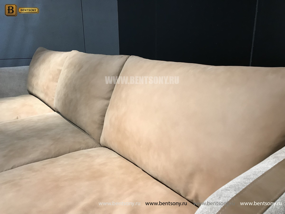 Диван Ваканцо угловой, натуральная кожа для дома