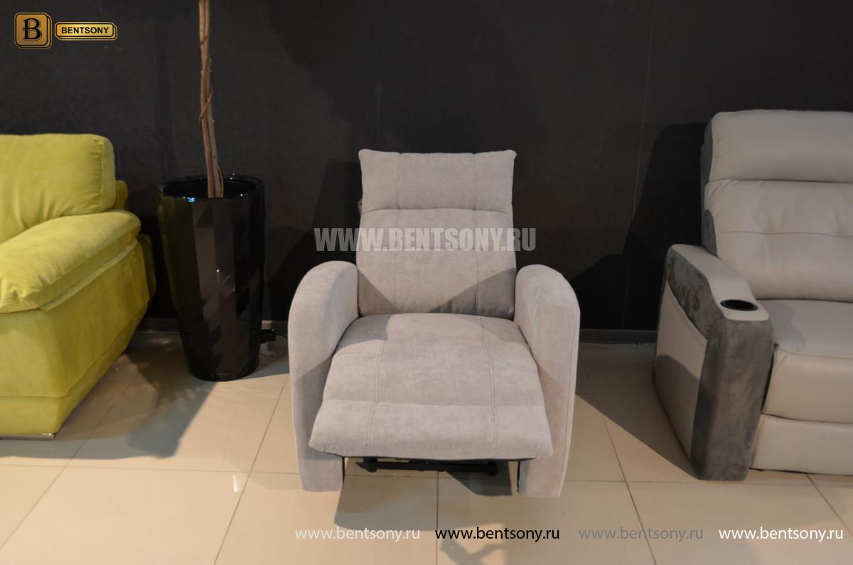Кресло Лаваль с реклайнером (Алькантара) в интерьере