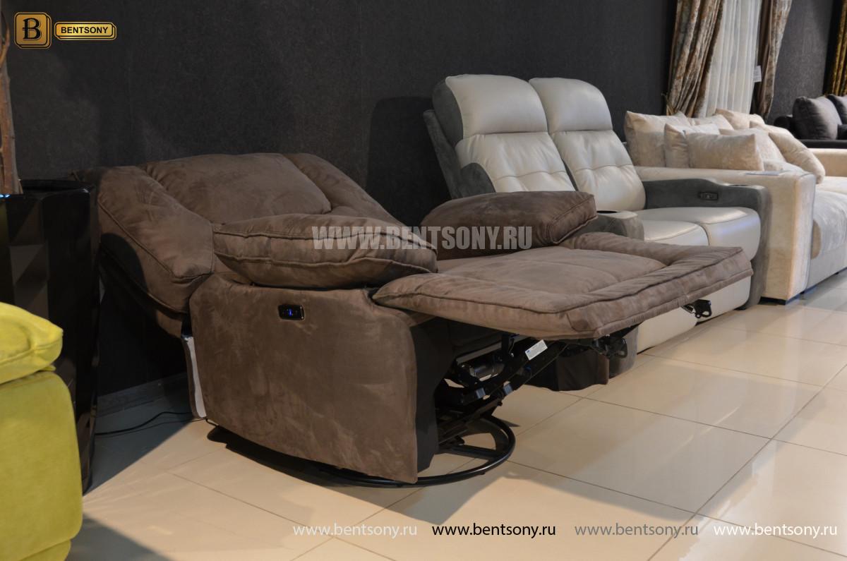 Кресло Прецо с реклайнером, глайдер (Ткань) цена