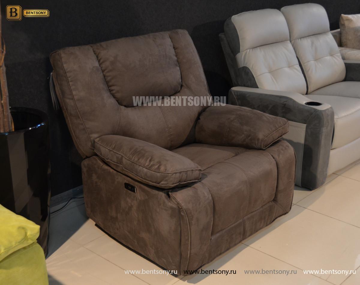 Кресло Прецо с реклайнером, глайдер (Ткань) для дома