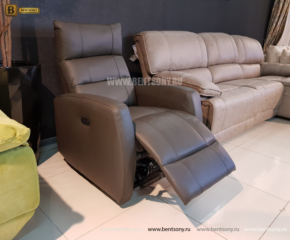 Кресло Лаваль с реклайнером (Натуральная кожа) магазин