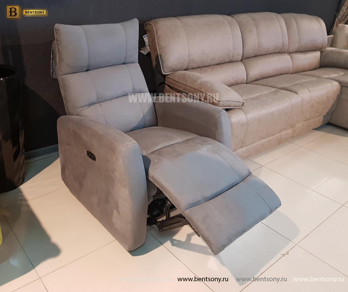Кресло Лаваль с реклайнером (Алькантара) для квартиры