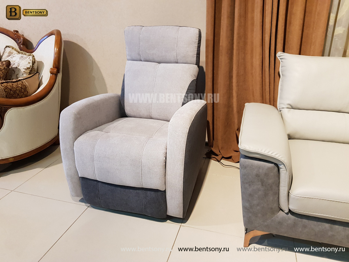 Кресло Эдвард, реклайнер (Алькантара) для квартиры