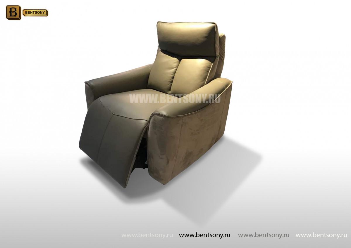 Кресло Тартуфо (Реклайнер, Натуральная Кожа, Алькантара) для загородного дома
