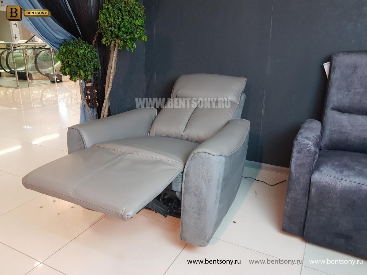 Кресло Тартуфо с реклайнером (Натуральная Кожа, Алькантара) интернет магазин