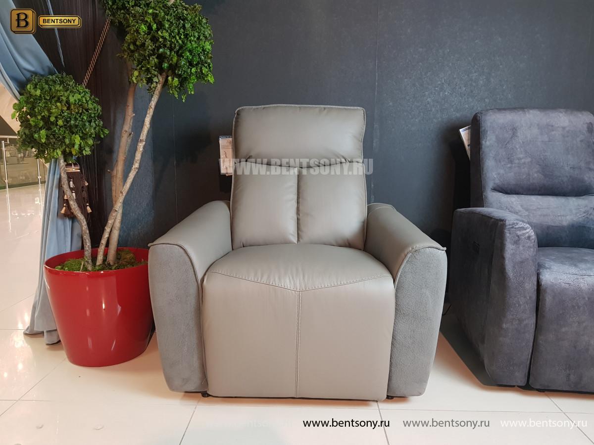 Кресло Тартуфо с реклайнером (Натуральная Кожа, Алькантара) каталог мебели с ценами