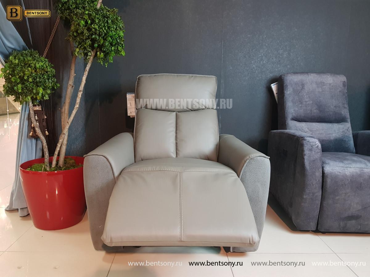 Кресло Тартуфо с реклайнером (Натуральная Кожа, Алькантара) для дома