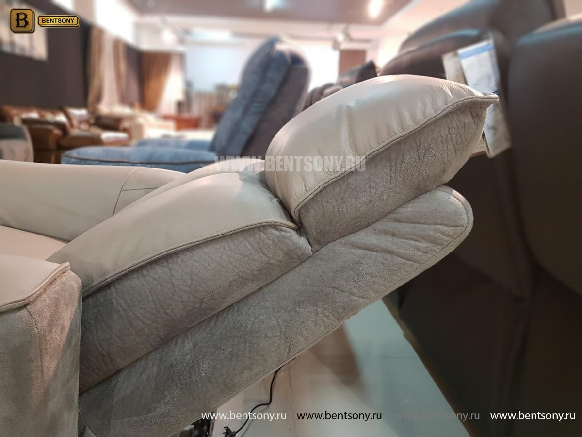 Кресло Тартуфо с реклайнером (Натуральная Кожа, Алькантара) купить в Москве
