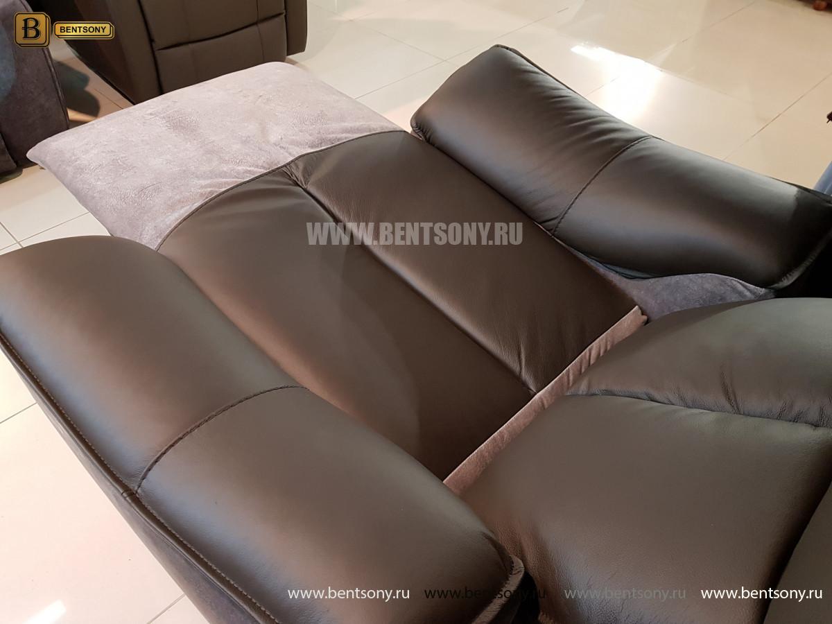 Кресло Портаро с реклайнером (Алькантара, Натуральная кожа) сайт цены