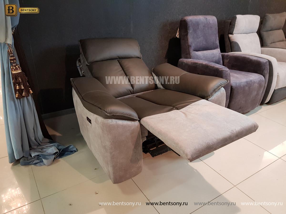 Кресло Портаро с реклайнером (Алькантара, Натуральная кожа) распродажа