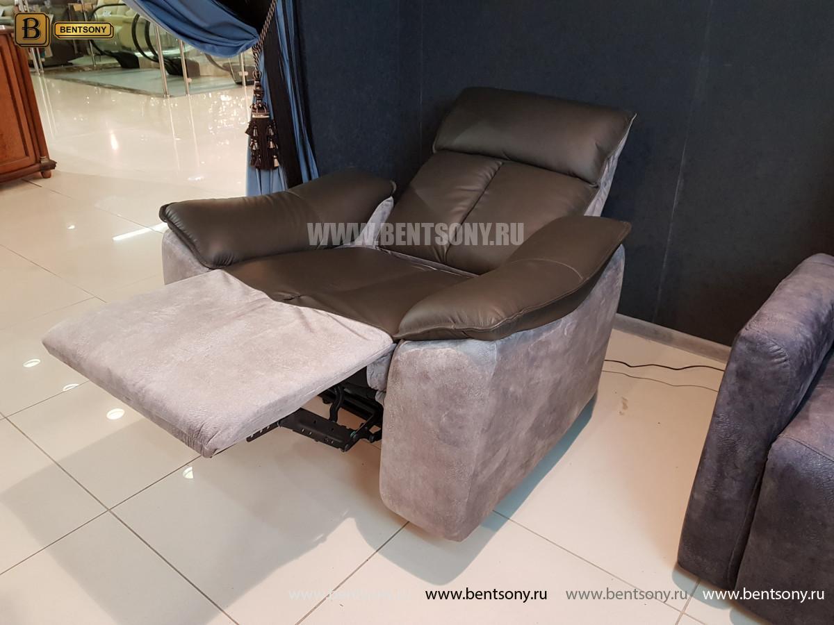 Кресло Портаро с реклайнером (Алькантара, Натуральная кожа) в интерьере