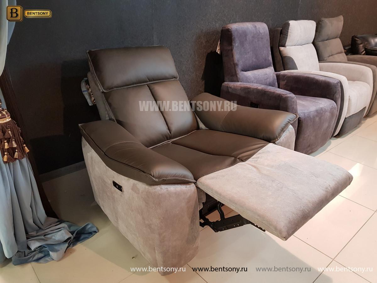 Кресло Портаро с реклайнером (Алькантара, Натуральная кожа) каталог мебели с ценами