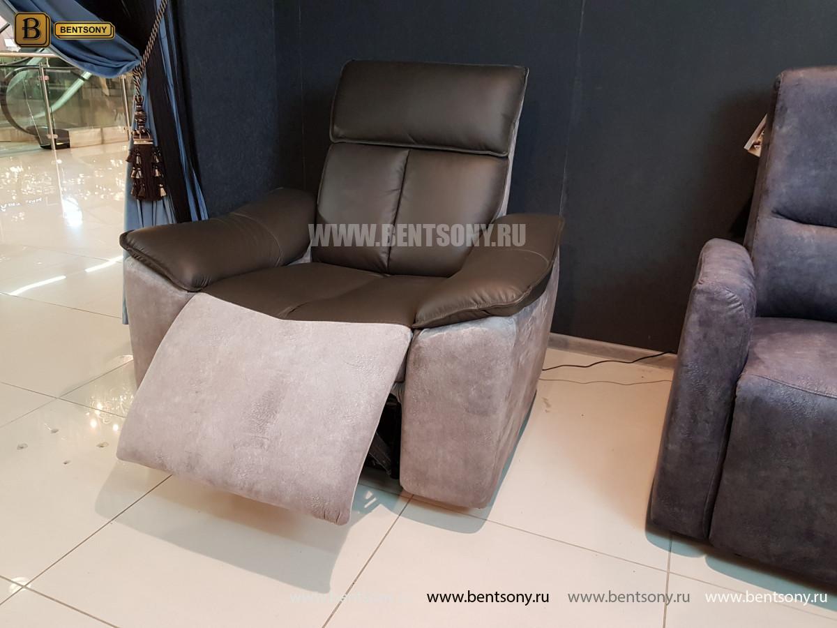 Кресло Портаро с реклайнером (Алькантара, Натуральная кожа) цена