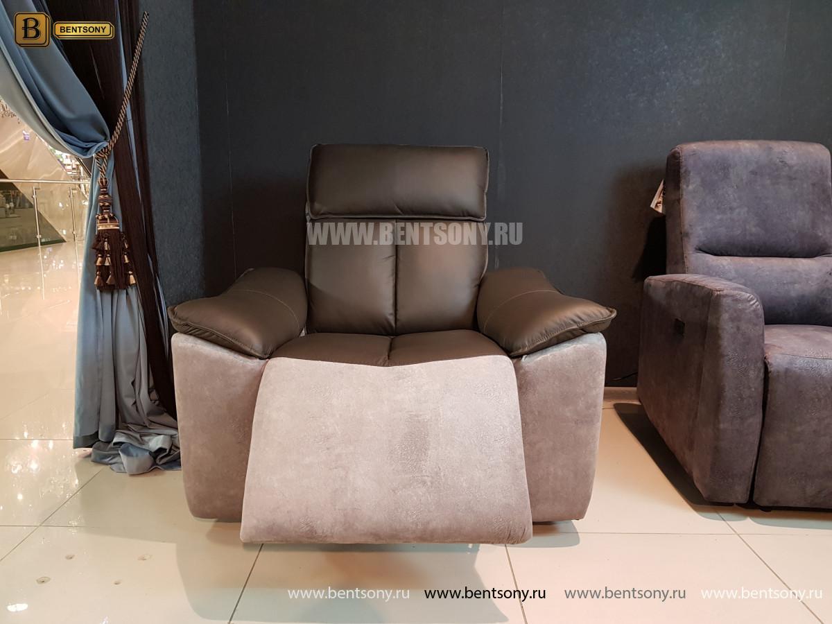 Кресло Портаро с реклайнером (Алькантара, Натуральная кожа) купить в СПб