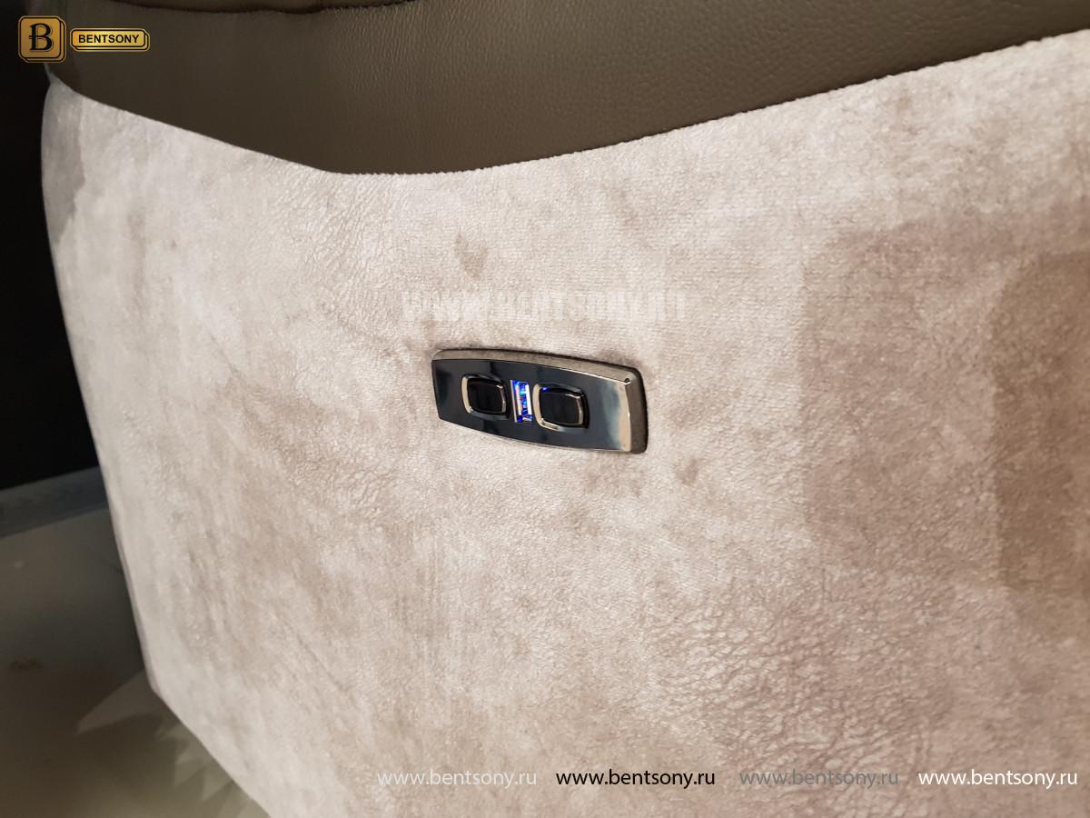 Кресло Портаро с реклайнером (Алькантара, Натуральная кожа)