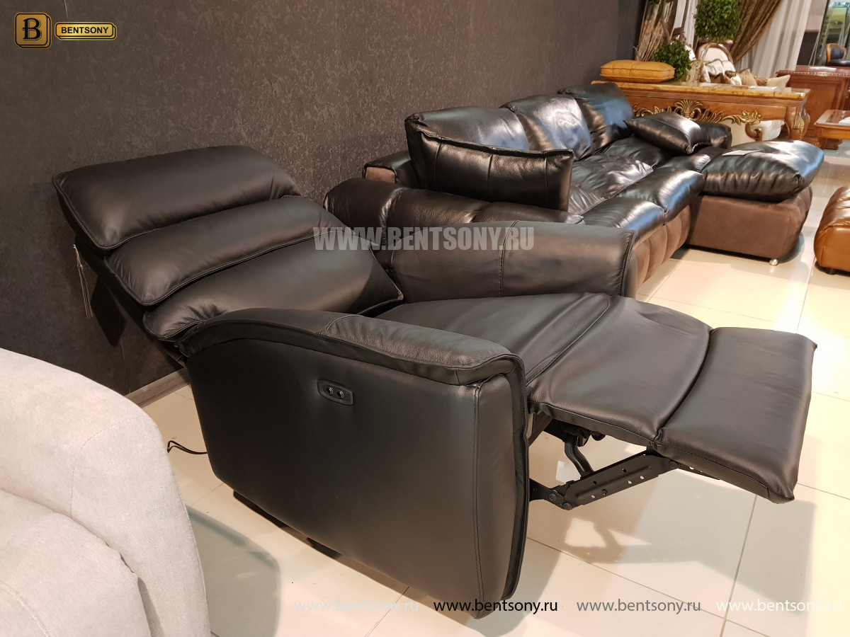 Кресло Фернандо с реклайнером (Натуральная кожа) распродажа