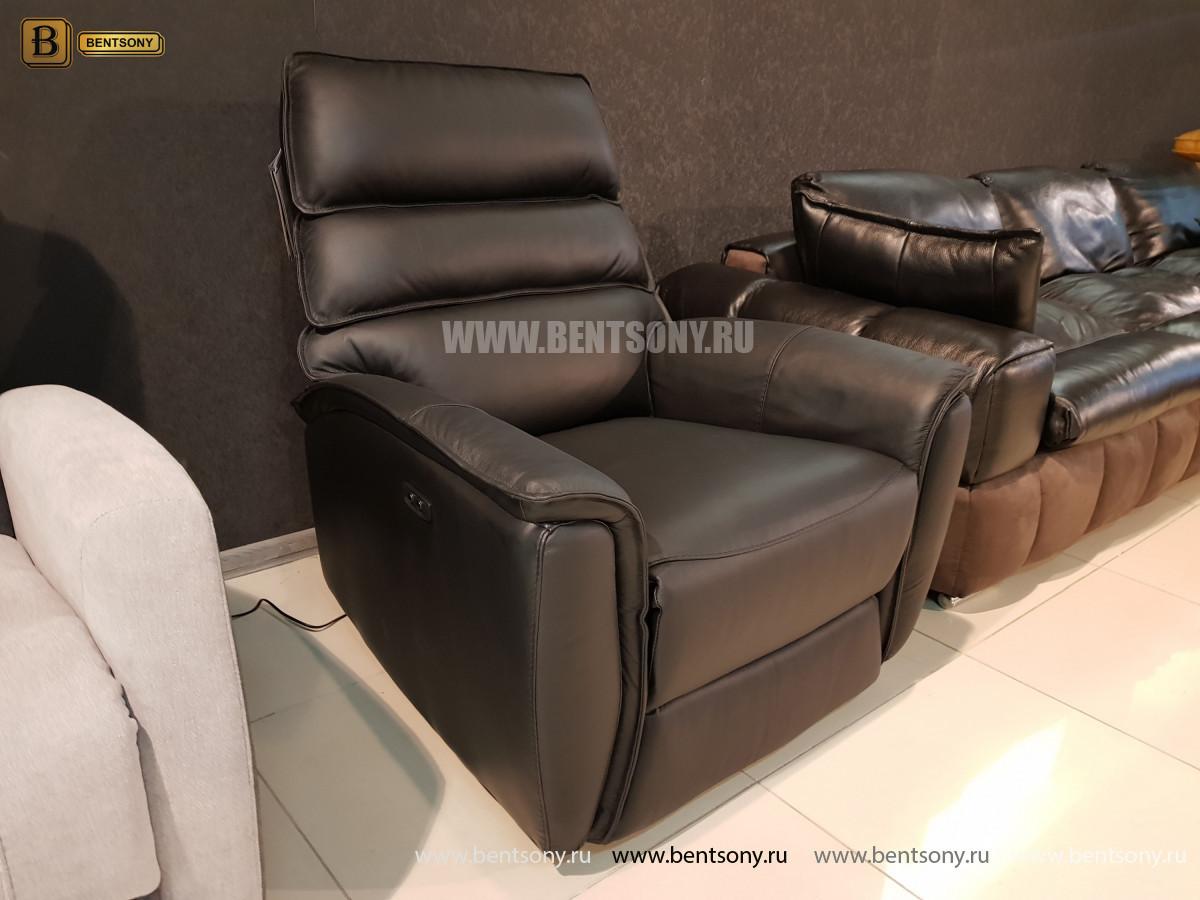 Кресло Фернандо с реклайнером (Натуральная кожа) сайт цены