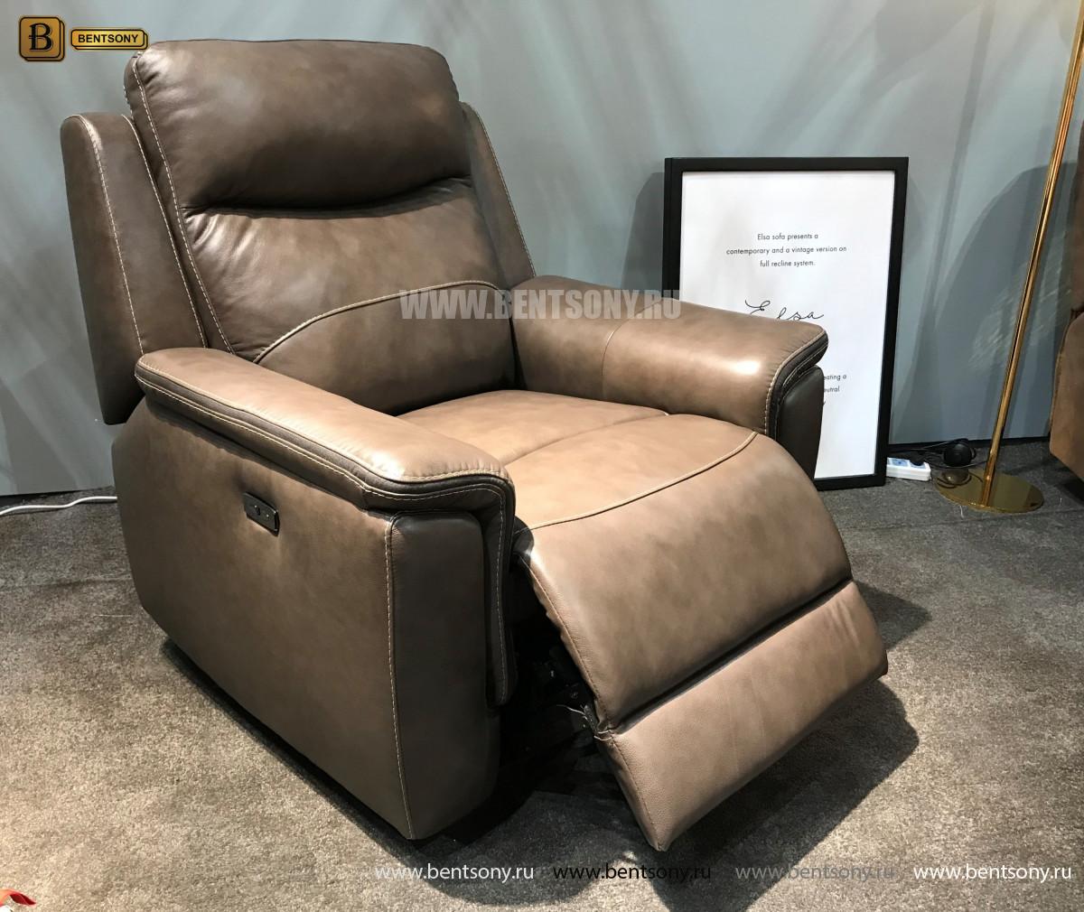 Кресло Инвитарио с реклайнером (Натуральная кожа) цена